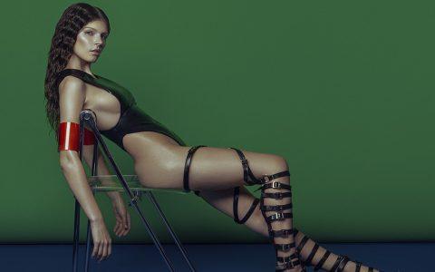Elena Jasic - Latex (detail), LUCYS Magazine, minus37